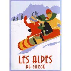 1920's Travel Poster - Alpes
