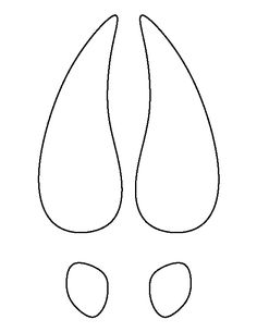 Elegant Deer Hoof Print Pattern. Use The Printable Outline For Crafts, Creating  Stencils, Scrapbooking, And More. Free PDF Template To Download And Print  At ...