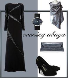 """evening abaya"" by ilsiyar on Polyvore"