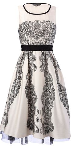 cute dress for a black and white wedding more casual, bridesmaid