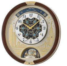 SEIKO Swarovski Melody in Motion Wall clock-2019 edition-QXM382BRH Best Wall Clocks, Cool Clocks, Charms Swarovski, Swarovski Crystals, Rhythm Clocks, Pictures At An Exhibition, Ode To Joy, Time Clock, Christmas Music