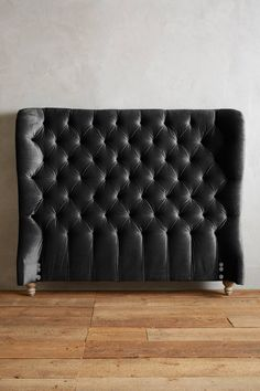 Slub Velvet Tufted Wingback Headboard