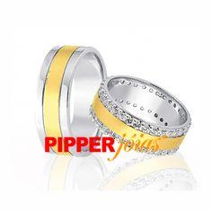 Alianças de Casamento e Noivado em Ouro e Prata - ALM541 Gold Wedding Rings, Cushion Wedding Bands, Engagement, Jewels, Curves