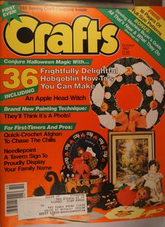 https://flic.kr/p/vJ7V2f | Crafts October 1987 | $6.00 each plus Shipping.