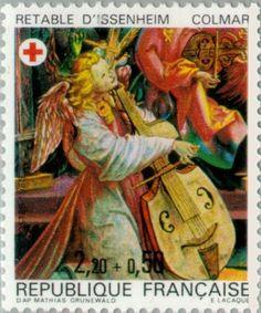 Stamp: Isenheim Altarpiece of the Antonines - Colmar (France) (Red Cross) Yt:FR…