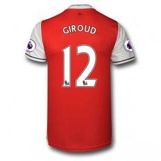 Arsenal 16-17 Olivier Giroud 12 Hemmatröja Kortärmad  #Fotbollströjor