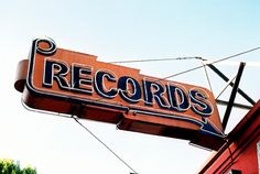 old record shop sign