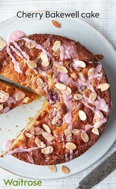 Almond Recipes, Baking Recipes, Cake Recipes, Dessert Recipes, Cherry Bakewell Cake, Bakewell Tart, Welsh Recipes, British Recipes, Waitrose Food
