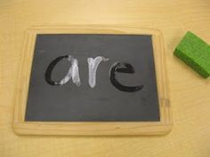 Evaporate it! Write the word as many times as they can on whiteboards unti the word evaporates on the slate.