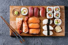 Sushi Set nigiri and rolls. Best food stock photos for businesses like food menu, blogging, graphic design, poster. More #food #photos you can download here ➝ https://creativemarket.com/photos/food-drink?u=BarcelonaDesignShop #menu #creative #download #food #restaurant #design #cafe #vintage #chef #cooking #branding #stock #photo #style #social #media #facebook #recipe #blogger #designer #photography #blog #flatlay #instagram #digital #image #sushi #background #meal #eating #healthy