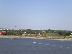 View of Fort Moultrie from the ship.