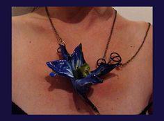 Colar Orquídea Azul * Blue Orchid Necklace * Fashion * Jewelry