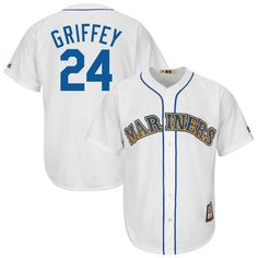 Men's Seattle Mariners Ken Griffey Jr. Majestic White Cooperstown Cool Base Player Jersey