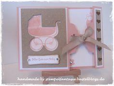 Stampin' Up! Babykarte Geburt Something for Baby Alles fürs Baby gewellter Anhänger