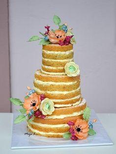Naked cake - Cake by majalaska