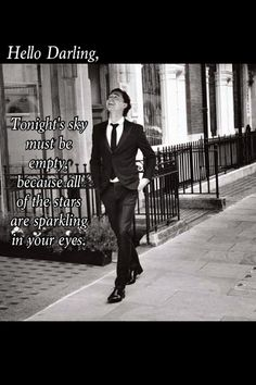 Tom Hiddleston: Hello Darling... • Oh, you sexy poet, you!