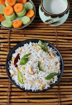 Easy amd delicious..coconut rice recipe swasthis recipes