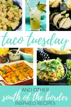 Whether it's vegan Taco Tuesday, Cinco de Mayo, or just a regular Thursday, you will love these South of the Border Inspired recipes! (#vegan)