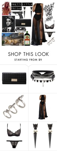 """""""Pretty Little Psycho"""" by onedirection-family-5sos ❤ liked on Polyvore featuring French Connection, WithChic, Cosabella and Alexis Bittar"""