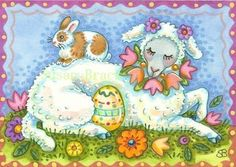 Susan Brack Original Easter Holiday Whimsy Art EBSQ CP Licensing