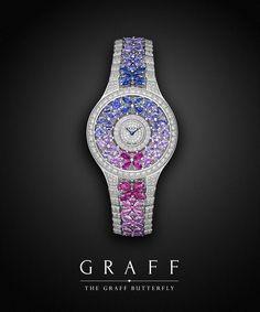 Beauty Captured. The new Sapphire Graff Butterfly Watch from GraffDiamonds