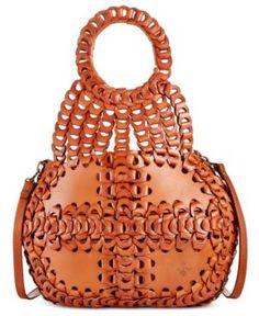 62431901483a Patricia Nash Chainlink Pisticci Shoulder Bag - Brown Leather Handbags