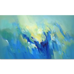 Large Blue Painting Abstract Painting Modern Painting by Artoosh Green Paintings, Blue Painting, Your Paintings, Original Paintings, Bedroom Art, Frame Shop, Blue Green, Painting Abstract, Etsy