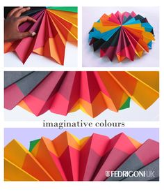 Competition entry to Fedrigoni's 'Imaginative Colours' brief.  #papercraft #paper art  #paper installation