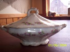 Buffalo Pottery Vintage Covered Dish by MtMeadowsCrafts on Etsy, $35.00
