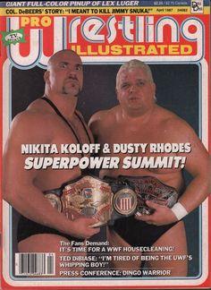 pro wrestling illustrated april 1987 nikita koloff dusty rhodes vg 020316dbe from $16.5