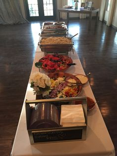 Wedding buffet w sriracha fried chicken!