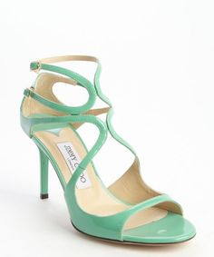 54210bd5ee2a1 Replica Jimmy Choo peppermint leather strappy open toe  Ivette  pumps  5-1608  225