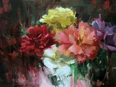 Rosy Mix, painting by artist Mary Maxam