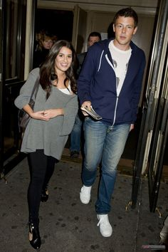 Cory Monteith and Lea Michele @ Rock of Ages