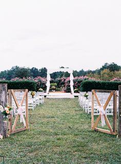 Charming farm wedding ceremony…
