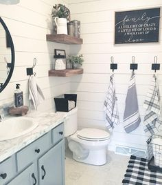 129 lovely farmhouse bathroom makeover ideas to try right now 7 House Bathroom, Farmhouse Bathroom Decor, Bathroom Makeover, Home Remodeling, Bathroom Decor, Home, Diy Bathroom Makeover, Home Decor, Small Bathroom Decor