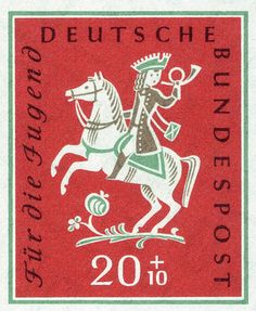 German horse stamp