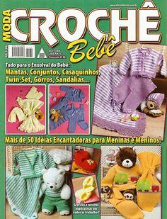 Receita Tricô Bebê   Revista MODA CROCHÊ BEBÊ   Tudo para enxoval do bebê:   Mantas,Conjunto,Casaquinhos,twin-set,gorros,sandálias.   Ma...