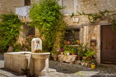 Scene in ancient town of St. Paul de Vence, Provence France. © Brian Jannsen Photography