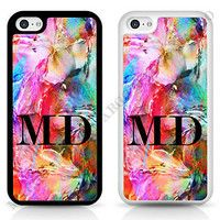 ABSTRACT INITIALS PERSONALISED CUSTOM PHONE CASE COVER FOR IPHONE SAMSUNG SONY