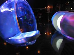 Bubble Chair. Elevate Nightclub, New Delhi, India. Interiors by Igloo Design.