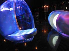 Bubble Chair. Elevate Nightclub, New Delhi, India. Interiors by Igloo Design.