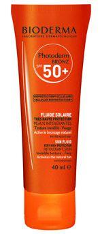 Photoderm BRONZ Fluido Facial (Disponible en SPF50+ y SPF30) - SPF50+ UVA35 CN 159250.7 - SPF30 UVA16 - 156143.5 - Alta y muy alta protección para todo tipo de piel. Activa, intensifica y prolonga le bronceado. Garantiza una protección óptima y actúa contra el envejecimiento prematuro de la piel. Textura ultra fluida invisible, sin efecto graso, específicamente desarrollado para la piel del rostro. - Parfumerie et parapharmacie - Parapharmacies - Bioderama