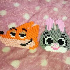 Judy and Nick - Zootopia perler beads by akariteyan