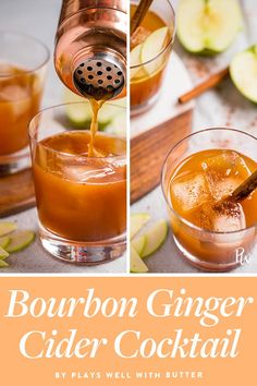 Mixed drink Recipes - 14 Festive Cocktail Recipes to Make This Thanksgiving. Festive Cocktails, Fruity Cocktails, Bourbon Drinks, Bourbon Cocktails, Holiday Drinks, Cocktail Drinks, Fun Drinks, Yummy Drinks, Cocktail Recipes