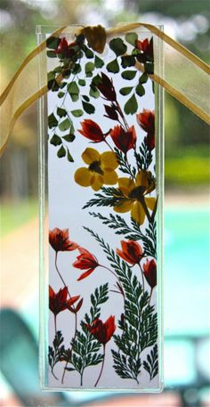 KALEIGH'S PRESSED FLOWER Large Bookmark by foreverflowersbyamy, $8.50