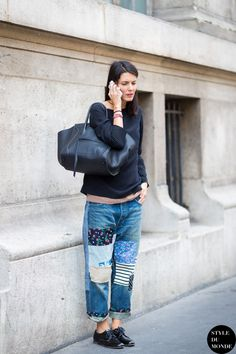After Ann Demeulemeester Street Style Street Fashion Streetsnaps by STYLEDUMONDE Street Style Fashion Blog