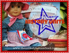 American Girl History Units -this is so awesome! We are reading all of the American Girl history books right now! American Girl Books, American Girl Crafts, American Girls, Study History, History Class, Teaching History, History Education, History Books, My Father's World