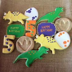 Dinosaur Sugar Cookies by Borosimplysweet on Etsy Dinosaur Cake Pops, Dinosaur Birthday Cakes, Dinosaur Party, Dinasour Birthday, 4th Birthday Parties, 3rd Birthday, Birthday Ideas, Happy Birthday, Birthday Cookies