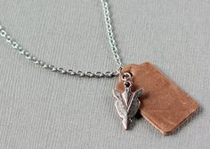 Arrowhead charm and leather diffuser necklace for aromatherapy on the go, just add a drop or two of your favorite essential oil.
